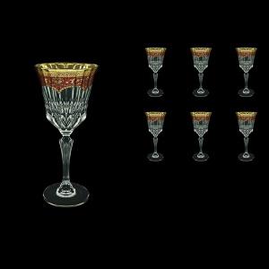Adagio C2 AEGR Wine Glasses 280ml 6pcs in Flora´s Empire Golden Red Decor (22-593)