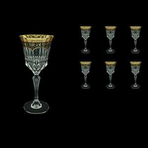 Adagio C2 AEGB Wine Glasses 280ml 6pcs in Flora´s Empire Golden Black Decor (26-593)