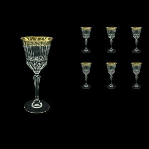 Adagio C3 AMGB Wine Glasses 220ml 6pcs in Lilit Golden Black Decor (31-482)