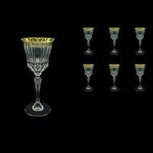 Adagio C3 AMGB Wine Glasses 220ml 6pcs in Lilit Golden Black Decor (31-482)