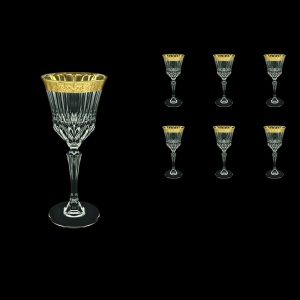 Adagio C3 ANGC Wine Glasses 220ml 6pcs in Romance Golden Classic Decor (33-482)
