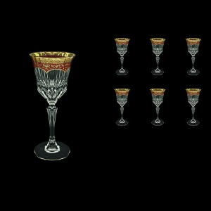 Adagio C3 AEGR Wine Glasses 220ml 6pcs in Flora´s Empire Golden Red Decor (22-592)