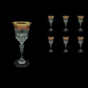Adagio C3 AEGR Wine Glasses 220ml 6pcs in Flora´s Empire Golden Red Decor (22-592)