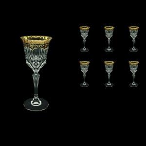 Adagio C3 AEGB Wine Glasses 220ml 6pcs in Flora´s Empire Golden Black Decor (26-592)