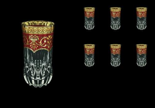 Adagio B0 AEGR Water Glasses 400ml 6pcs in Flora´s Empire Golden Red Decor (22-596)
