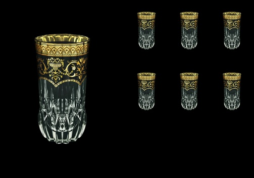 Adagio B0 AEGB Water Glasses 400ml 6pcs in Flora´s Empire Golden Black Decor (26-596)