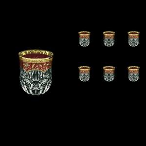 Adagio B2 AEGR Whisky Glasses 350ml 6pcs in Flora´s Empire Golden Red Decor (22-595)