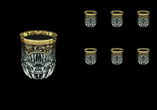 Adagio B2 AEGB Whisky Glasses 350ml 6pcs in Flora´s Empire Golden Black Decor (26-595)
