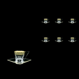 Fusion ES FMGB b Cup Espresso 76ml 6pcs in Lilit Golden Black Decor (31-335/6)
