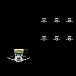 Fusion ES FMGB b Cup Espresso 76ml 6pcs in Lilit Golden Black Decor (31-335/6)