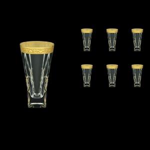 Fusion B0 FNGC H Water Glasses 384ml 6pcs in Romance Golden Classic Decor+H (33-398/H)