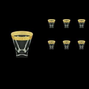 Fusion B2 FNGC Whisky Glasses 270ml 6pcs in Romance Golden Classic Decor (33-397)