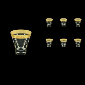Fusion B2 FNGC H Whisky Glasses 270ml 6pcs in Romance Golden Classic Decor+H (33-397/H)