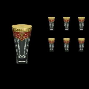 Fusion B0 FEGR Water Glasses 384ml 6pcs in Flora´s Empire Golden Red Decor (22-548)