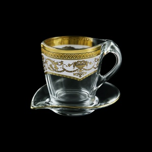 Mamanonmama CA MEGW Cappuccino 260ml 1pc in F. Empire Golden White Decor (21-448)