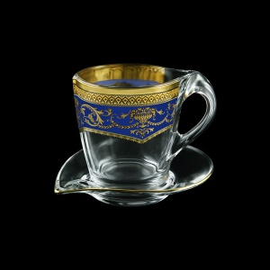 Mamanonmama CA MEGC Cappuccino 260ml 1pc in F. Empire Golden Blue Decor (23-448)