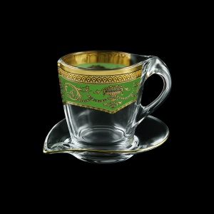 Mamanonmama CA MEGG Cappuccino 260ml 1pc in F. Empire Golden Green Decor (24-448)