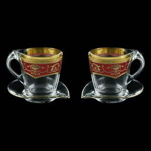 Mamanonmama CA MEGR Cappuccino 260ml 2pcs in F. Empire Golden Red Decor (22-448/2)