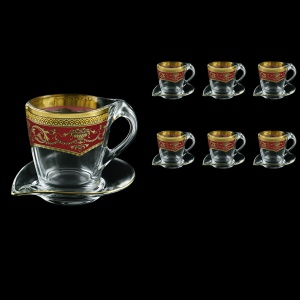 Mamanonmama CA MEGR Cappuccino 260ml 6pcs in F. Empire Golden Red Decor (22-448/6)