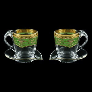 Mamanonmama CA MEGG Cappuccino 260ml 2pcs in Flora´s Empire Golden Green Decor (24-448/2)