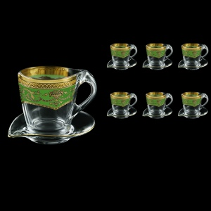 Mamanonmama CA MEGG Cappuccino 260ml 6pcs in Flora´s Empire Golden Green Decor (24-448/6)