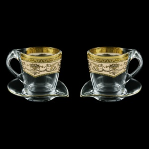 Mamanonmama CA MEGI Cappuccino 260ml 2pcs in Flora´s Empire Golden Ivory Decor (25-448/2)