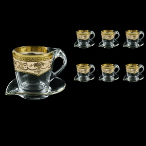 Mamanonmama CA MEGI Cappuccino 260ml 6pcs in Flora´s Empire Golden Ivory Decor (25-448/6)