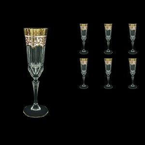 Adagio CFL AEGI Champagne Flutes 180ml 6pcs in Flora´s Empire Golden Ivory Decor (25-594)