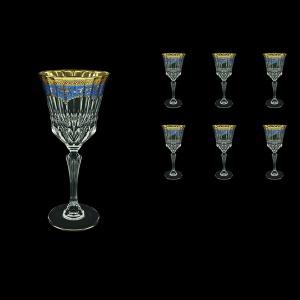 Adagio C2 AEGC Wine Glasses 280ml 6pcs in Flora´s Empire Golden Blue Decor (23-593)