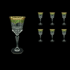Adagio C2 AEGG Wine Glasses 280ml 6pcs in Flora´s Empire Golden Green Decor (24-593)