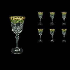 Adagio C2 AEGG Wine Glasses 280ml 6pcs in Flora´s Empire Golden Green Decor (24-593)