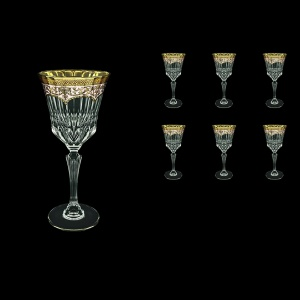 Adagio C2 AEGI Wine Glasses 280ml 6pcs in Flora´s Empire Golden Ivory Decor (25-593)