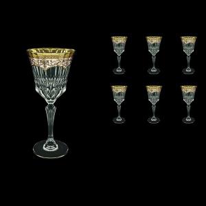 Adagio C2 AEGI Wine Glasses 280ml 6pcs in Flora´s Empire Golden Ivory Decor (25-593)