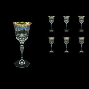 Adagio C3 AEGC Wine Glasses 220ml 6pcs in Flora´s Empire Golden Blue Decor (23-592)