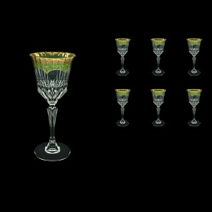 Adagio C3 AEGG Wine Glasses 220ml 6pcs in Flora´s Empire Golden Green Decor (24-592)