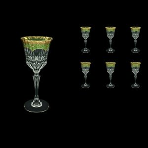 Adagio C3 AEGG Wine Glasses 220ml 6pcs in Flora´s Empire Golden Green Decor (24-592)