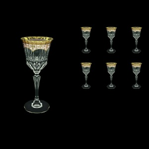 Adagio C3 AEGI Wine Glasses 220ml 6pcs in Flora´s Empire Golden Ivory Decor (25-592)