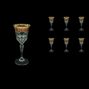 Adagio C4 AEGR Wine Glasses 150ml 6pcs in Flora´s Empire Golden Red Decor (22-591)