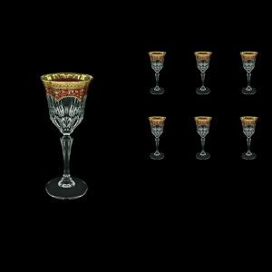 Adagio C4 AEGR Wine Glasses 150ml 6pcs in Flora´s Empire Golden Red Decor (22-591)