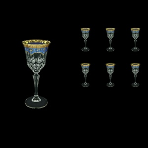 Adagio C4 AEGC Wine Glasses 150ml 6pcs in Flora´s Empire Golden Blue Decor (23-591)