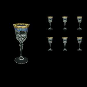 Adagio C4 AEGC Wine Glasses 150ml 6pcs in Flora´s Empire Golden Blue Decor (23-591)