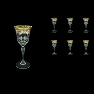 Adagio C4 AEGI Wine Glasses 150ml 6pcs in Flora´s Empire Golden Ivory Decor (25-591)