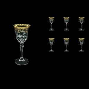 Adagio C4 AEGB Wine Glasses 150ml 6pcs in Flora´s Empire Golden Black Decor (26-591)