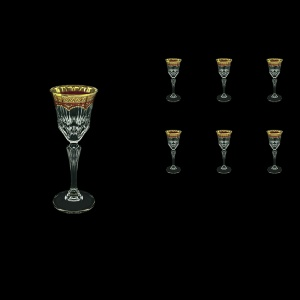 Adagio C5 AEGR Liqueur Glasses 80ml 6pcs in Flora´s Empire Golden Red Decor (22-590)