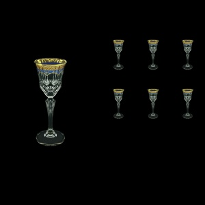 Adagio C5 AEGC Liqueur Glasses 80ml 6pcs in Flora´s Empire Golden Blue Decor (23-590)