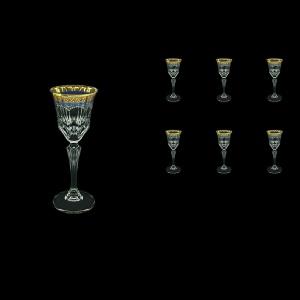 Adagio C5 AEGC Liqueur Glasses 80ml 6pcs in Flora´s Empire Golden Blue Decor (23-590)