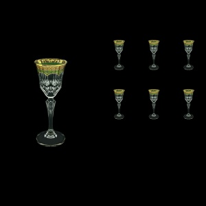 Adagio C5 AEGG Liqueur Glasses 80ml 6pcs in Flora´s Empire Golden Green Decor (24-590)