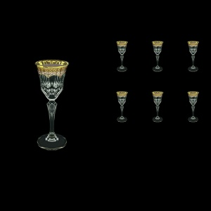 Adagio C5 AEGI Liqueur Glasses 80ml 6pcs in Flora´s Empire Golden Ivory Decor (25-590)