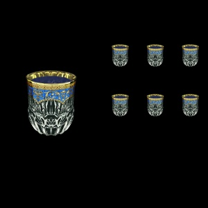 Adagio B2 AEGC Whisky Glasses 350ml 6pcs in Flora´s Empire Golden Blue Decor (23-595)