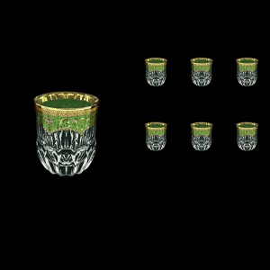 Adagio B2 AEGG Whisky Glasses 350ml 6pcs in Flora´s Empire Golden Green Decor (24-595)